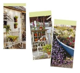 Country Garden Memo Pads (Pack Of 3)