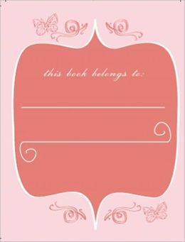 Bookplates - Pink Butterfly 12Pk
