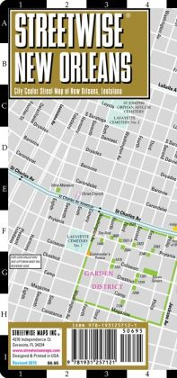 Streetwise New Orleans Map - Laminated City Center Street Map of New Orleans, Louisiana - Folding Pocket Size Travel Map (2014)