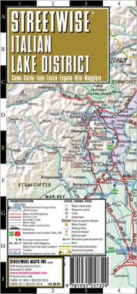 Streetwise Italian Lake District Map - Laminated Regional Map of the Italian Lake District - Folding Pocket Size Travel Map (2008)