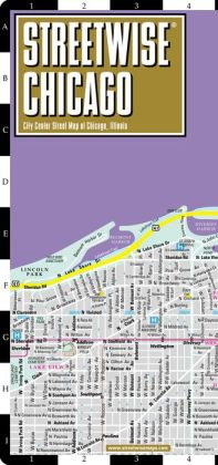 Streetwise Chicago Map - Laminated City Center Street Map of Chicago, Illinios - Folding Pocket Size Travel Map With Metro (2014)