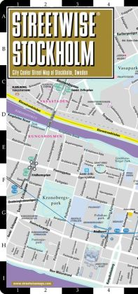 Streetwise Stockholm Map - Laminated City Center Street Map of Stockholm, Sweden - Folding Pocket Size Travel Map With Metro (2014)