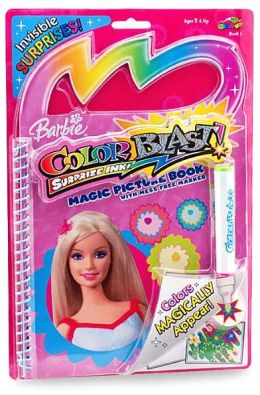 Barbie Color Blast! Suprise Ink! Magic Picture Book with Mess Free Marker