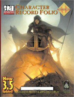 d20 System Character Record Folio: Updated