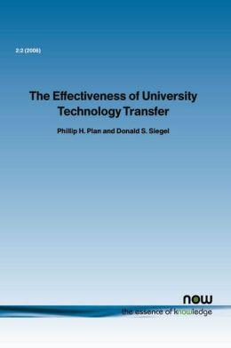 The Effectiveness Of University Technology Transfer