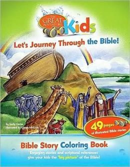 Great Adventure Kids ''Let's Journey through the Bible'' Bible Story Coloring Book