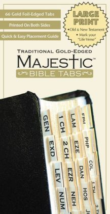Large Print Traditional Gold Bible Tabs