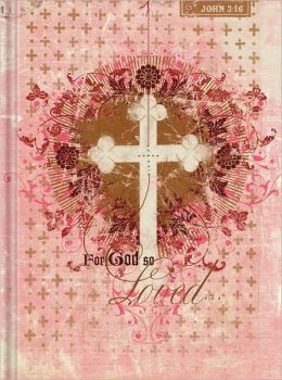 Pink For God So Loved Bound Lined Journal(5'x7