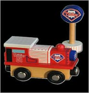 Phillies All-Star Express Wooden Train and Team Sign