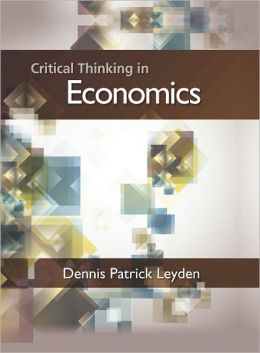 Critical Thinking in Economics