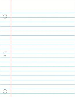 Notebook Paper - Laminated