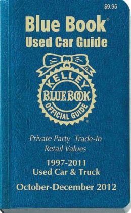 Kelley Blue Book Used Car Guide: October-December 2012