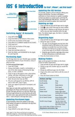 iOS 6 Introduction Quick Reference Guide: for iPad, iPhone, and iPod touch (Cheat Sheet of Instructions, Tips & Shortcuts - Laminated Card)