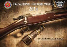 2014 NRA National Firearms Museum Wall Calendar