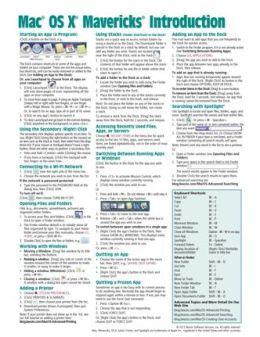 Mac OS X Mavericks Quick Reference Card-Introduction