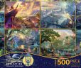 Product Image. Title: 4 in 1 500 Piece Multi Pack Puzzles, Thomas Kinkade Disney Dreams