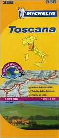 Michelin Map Italy: Toscana 358
