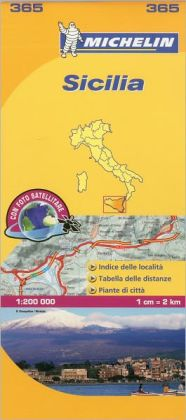Michelin Map Italy: Sicilia 365