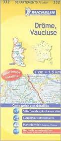 France Drome, Vaucluse Map 332