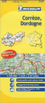 Michelin Map France: Corrze, Dordogne 329
