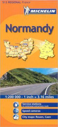 Michelin Normandy 513 Regional France Map