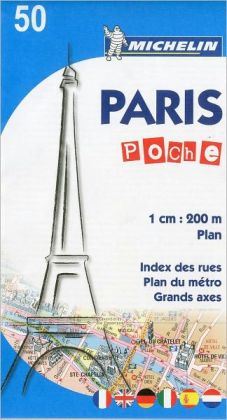 Paris, France Pocket Map