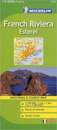 Michelin ZOOM France: French Riviera, Esterel Map 115