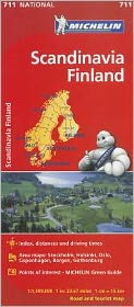 Michelin Scandinavia Finland Map 711
