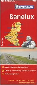 Michelin Benelux Map 714: Belgium, The Netherlands, Luxembourg