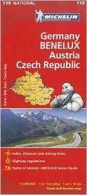 Michelin Germany Austria Benelux Czech Republic Map 719