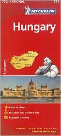 Michelin Hungary Map 732