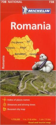 Michelin Romania Map 738