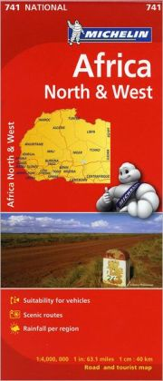 Michelin Africa North and West Map 741