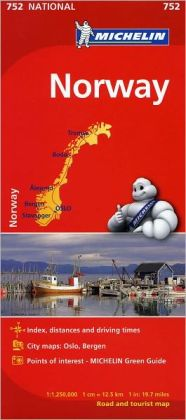 Michelin Norway Map 752