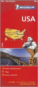 Michelin USA Road Map 761