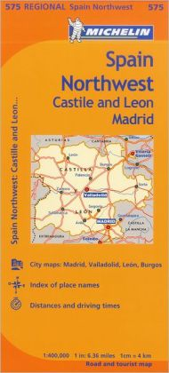 Michelin Spain: Northwest, Castilla-Leon Madrid Map 575