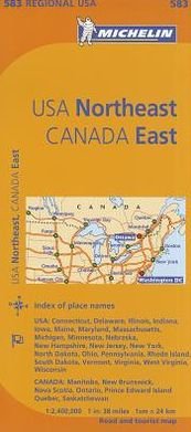 Michelin USA: Northeast, Canada: East Map 583