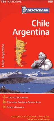 Michelin Chile/Argentina Map 788