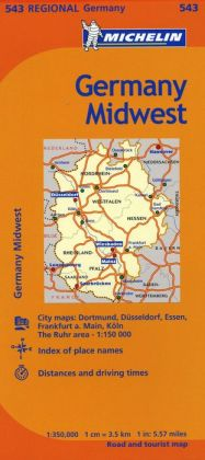 Michelin Germany Midwest Map 543