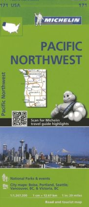 Michelin Pacific Northwest Map