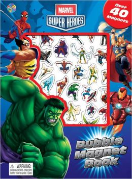 Marvel Heroes Bubble Magnet Book