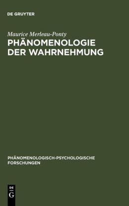 Merleau-Ponty:Phaen D Wahrn 5ae Ppf 7 Paperb.GST