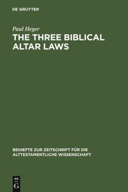 Three Biblical Altar Laws: Developments in the Sacrificial Cult in Practice and Theology: Political and Economic Background