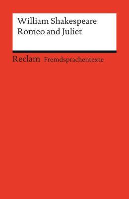 Romeo and Juliet: Reclams Rote Reihe - Fremdsprachentexte