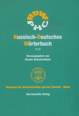 Russisch-Deutsches Worterbuch (RDW): O