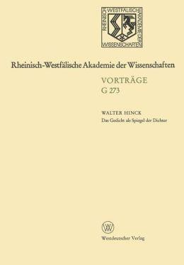 Das Gedicht als Spiegel der Dichter: Zur Geschichte des deutschen poetologischen Gedichts