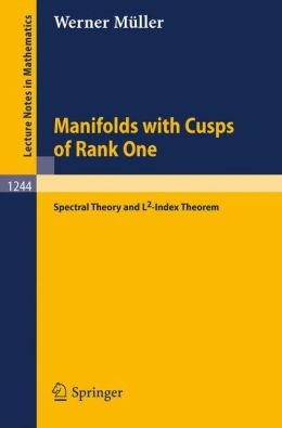 Manifolds with Cusps of Rank One: Spectral Theory and L2-Index Theorem