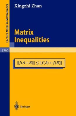 Matrix Inequalities