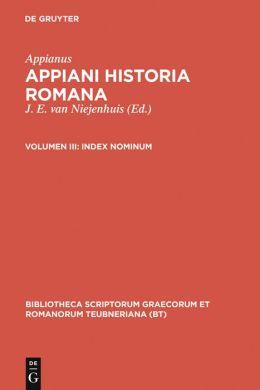 Historia Romana, Vol. III: Index Nominum