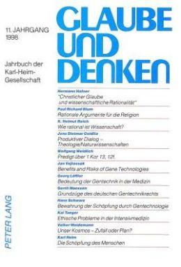 Glaube Und Denken: Jahrbuch Der Karl-Heim-Gesellschaft 11. Jahrgang 1998